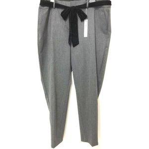 Ann Taylor Loft Plus Marisa Slim Tie Waist Pants